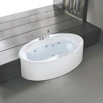 Vasca da bagno ovale / in acrilico / idromassaggio / per cromoterapia
