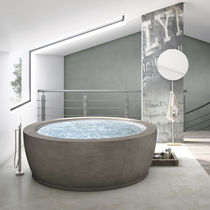 Vasca da bagno da appoggio / rotonda / in composito / doppia