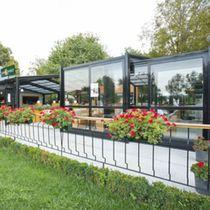 Veranda autoportante / in vetro / in alluminio / professionale