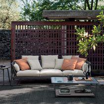 Divano moderno / da giardino / in tessuto / in alluminio