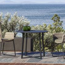 Tavolo da bistrot moderno / in cemento / in acciaio inossidabile / rettangolare