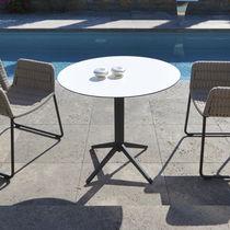 Tavolo da bistrot moderno / in acciaio inossidabile / rettangolare / rotondo