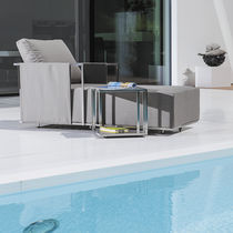 Tavolo d'appoggio moderno / in acciaio inossidabile / rettangolare / quadrato