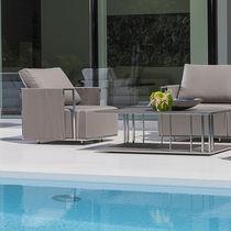 Poltrona moderna / in Sunbrella® / in acciaio inossidabile / impermeabile