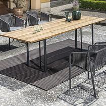 Tavolo da pranzo moderno / in laminato / in acciaio inossidabile / rettangolare