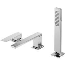 Miscelatore da doccia / per vasca / da bancone / in metallo cromato