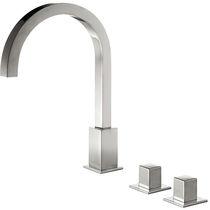 Miscelatore doppio comando per lavabo / da appoggio / in metallo cromato / da bagno
