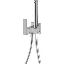 Miscelatore per bidet / da incasso / in metallo cromato / da bagno