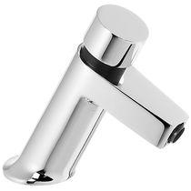 Miscelatore per lavabo / in metallo cromato / temporizzato / da bagno