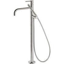Miscelatore da doccia / da vasca / a pavimento / in metallo cromato