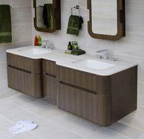 Mobile lavabo doppio / sospeso / da appoggio / in legno