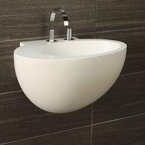 Lavabo sospeso / ovale / in Solid Surface / moderno