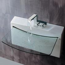Lavabo sospeso / in porcellana / in vetro / moderno