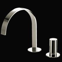 Miscelatore per lavabo / in ottone cromato / da bagno / 2 fori