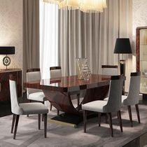 Tavolo da pranzo moderno / in legno laccato / rettangolare