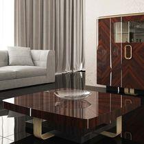 Tavolino basso moderno / in legno laccato / rettangolare / quadrato