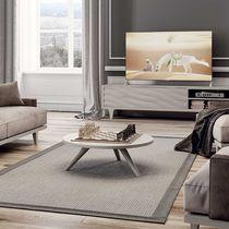 Tavolino basso moderno / in legno laccato / rotondo / da interno