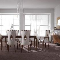Sedia in stile / imbottita / in tessuto / in legno