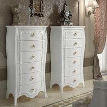 Cassettiera in stile / in legno / in legno laccato / bianca