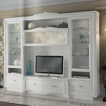 Parete attrezzata TV classico / in legno / in legno laccato