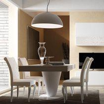 Sedia in stile / imbottita / in tessuto / in legno laccato