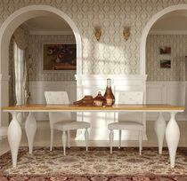Tavolo da pranzo in stile / in legno laccato / rettangolare / allungabile