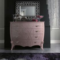 Cassettone moderno / in legno / in legno laccato / rosa