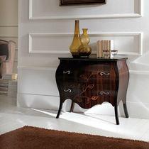 Tavolo d'appoggio in stile / in legno / con cassetti