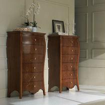 Cassettiera in stile / in legno / bianca / marrone
