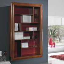 Libreria a muro / classica / in legno / vetrata
