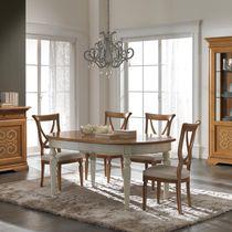 Tavolo da pranzo classico / in legno laccato / ovale / rettangolare