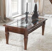 Tavolino basso classico / in legno / in vetro / da interno