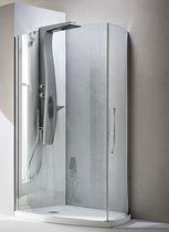 Parete doccia battente / curva / d'angolo / in vetro