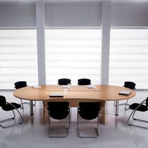 Tavolo da riunione moderno / in noce / in faggio / in metallo