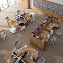 Scrivania per open space / in legno / in metallo / moderna