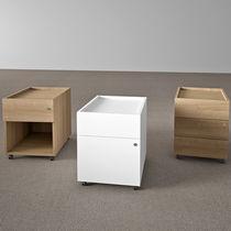 Cassettiera per ufficio in metallo / in legno / 3 cassetti / 2 cassetti