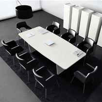 Tavolo da riunione moderno / in legno / in metallo / rettangolare