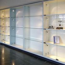 Vetrina moderna / in vetro / in acciaio inox / professionale
