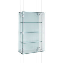 Vetrina moderna / da parete / in vetro / in alluminio