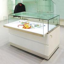 Vetrina moderna / in vetro / in legno / bassa