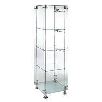 Vetrina moderna / in vetro / in acciaio inox / illuminata