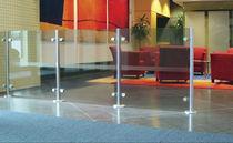 Divisorio per ufficio a pavimento / in vetro / modulare
