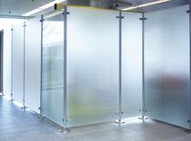 Divisorio per ufficio a pavimento / in vetro