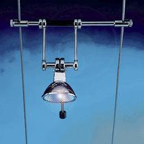 Illuminazione su cavi alogena / rotonda / in metallo / da interno