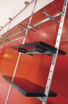 Scaffale pavimento-soffitto / moderno / in alluminio / per negozio di abbigliamento