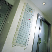Cartello segnaletico da parete / fisso / a soffitto / in vetro