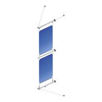 Pannello segnaletico da parete / in acciaio inossidabile / da interno