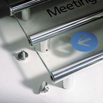 Cartello segnaletico da parete / in alluminio / luminoso / da interno