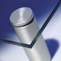 Morsetto per vetro in metallo / per pannelli / per muro