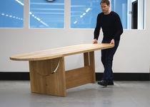 Tavolo moderno / in legno massiccio / ovale / professionale